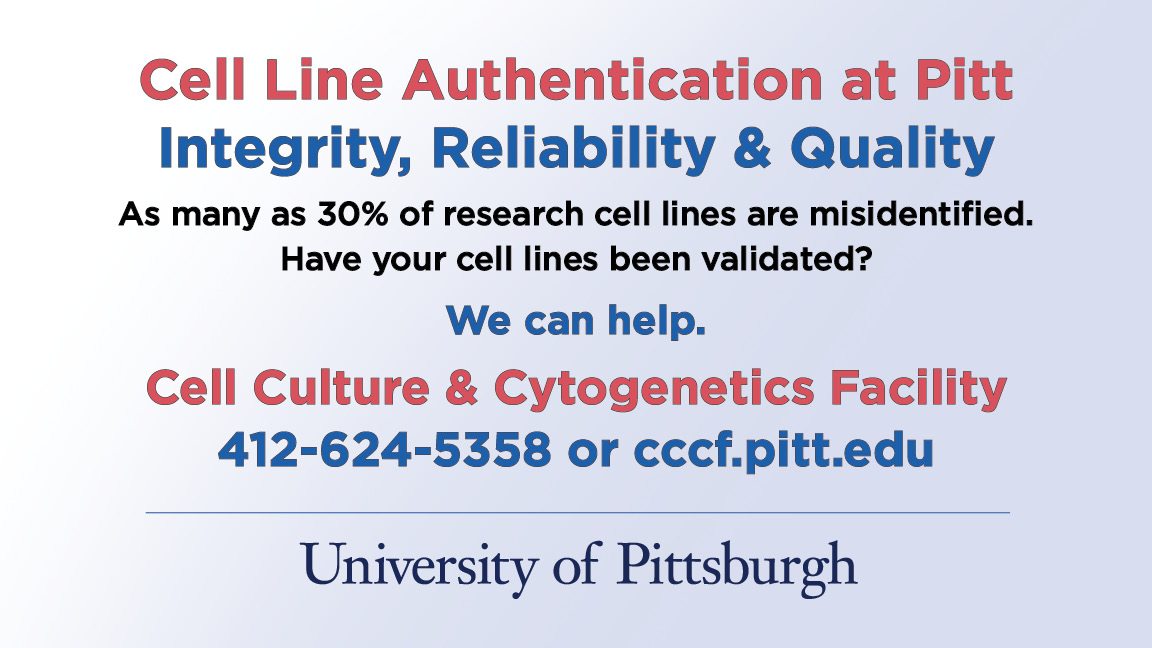Cell Line Authentication at Pitt